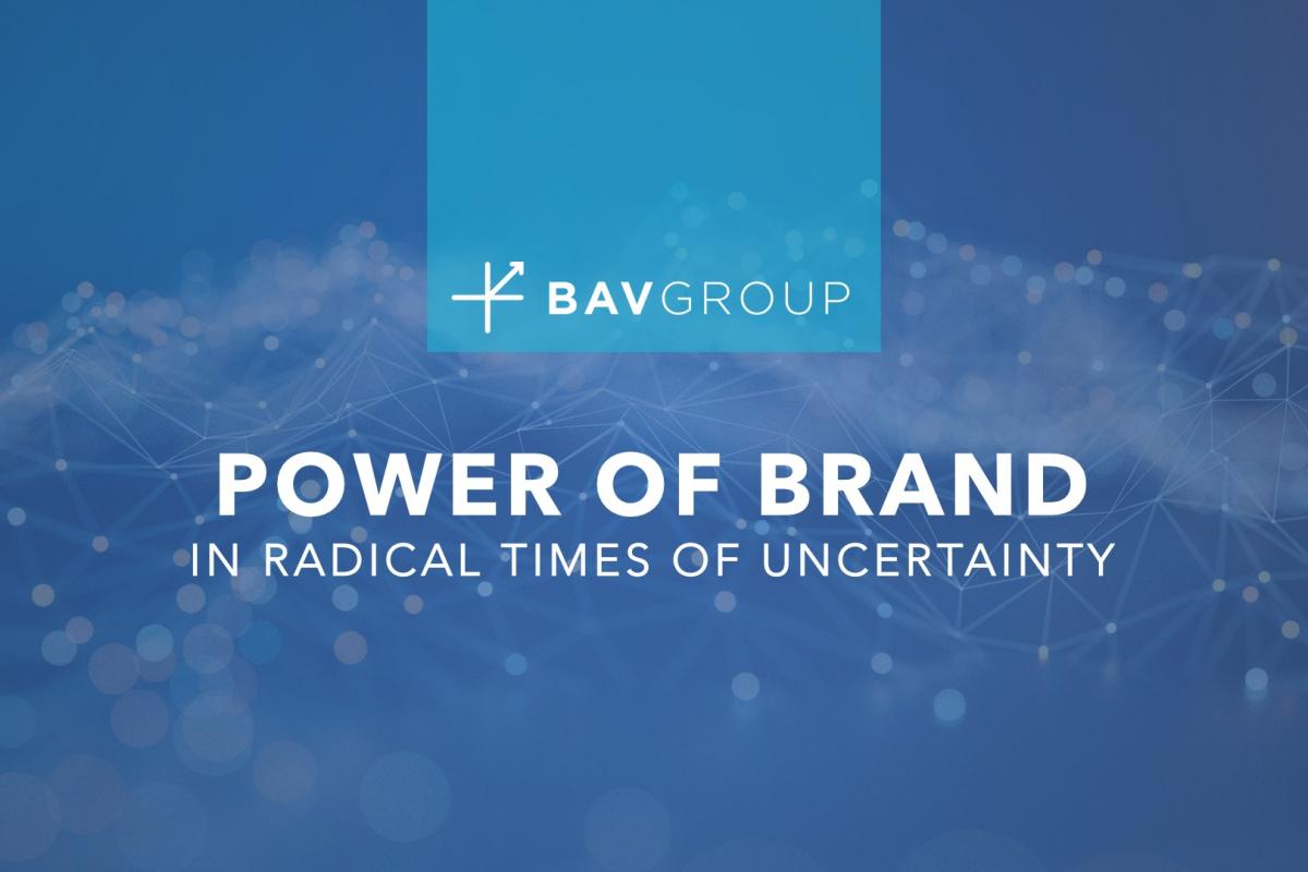 The Power of Brand in Radical Times of Uncertainty BAV Group