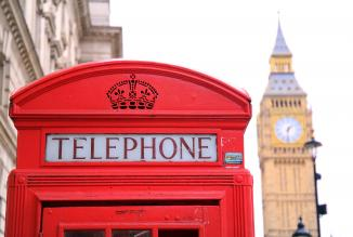 United Kingdom London British Telephone Booth Big Ben
